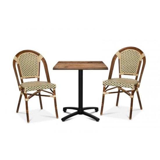 Paris stol, grön/creme