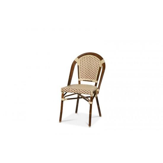 Paris stol, vinröd/creme