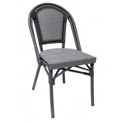 Paris stol, grå/svartvit