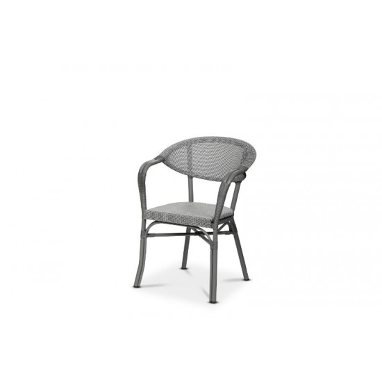Monaco karmstol, grå/svartvit