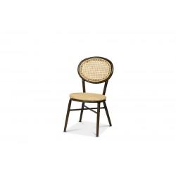 Metz stol, cremefärgad fiberrotting