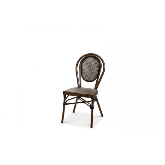 Rennes stol, brun/brun textylene