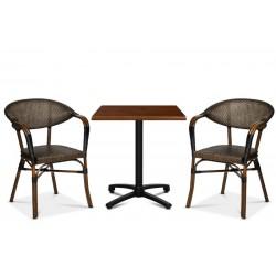 Monaco karmstol, svart/brun textylene
