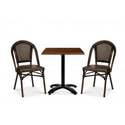 Paris stol, svart/brun textylene
