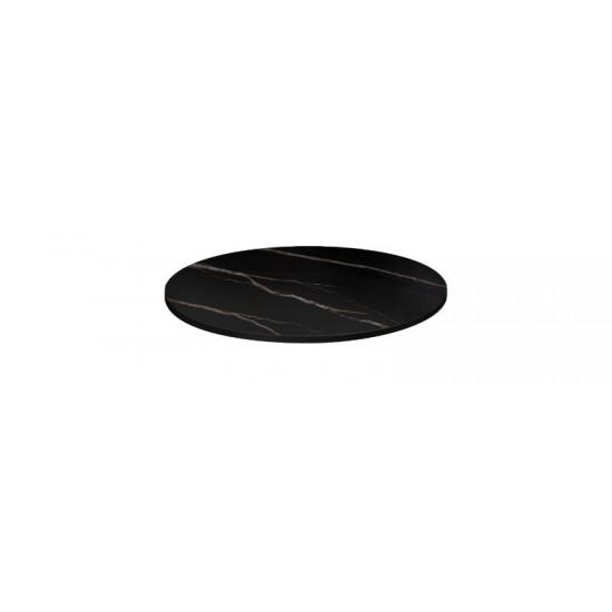 Bordsskiva Ø 60cm, svart