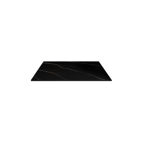 Bordsskiva 60x70cm, svart