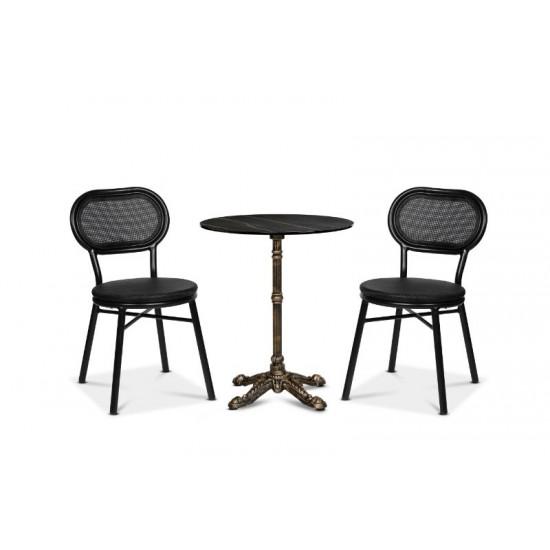 Grasse stol, svart/svart textilene