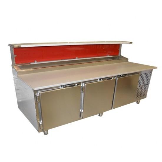Pizzabänk 3 dörrar, 45×60 cm-plåtar
