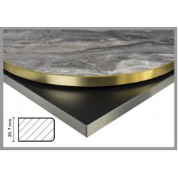 Bordsskiva Kant Alu guld/silver 26,7mm
